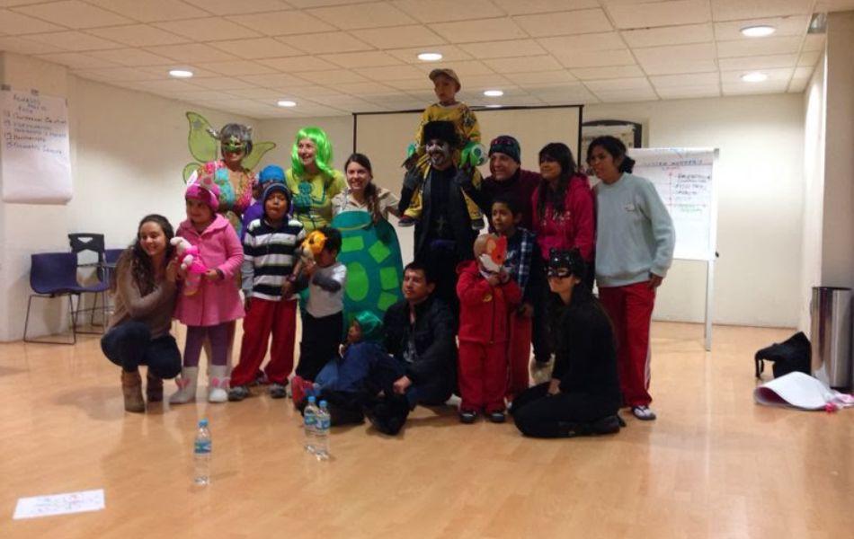 El Circo amor en AMANC, compartiendo con niños enfermos de cáncer