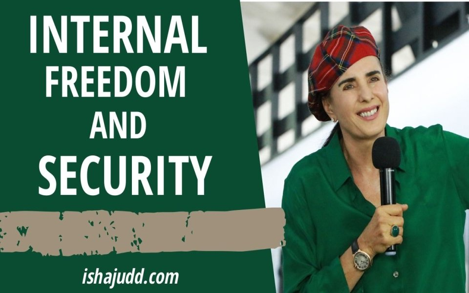 ISHA JUDD TALKS ABOUT FINDING INTERNAL FREEDOM AND SECURITY. DARSHAN APRIL 13TH 2020.