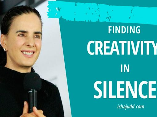 ISHA JUDD TALKS ABOUT FINDING CREATIVITY IN SILENCE. DARSHAN APRIL 15TH 2020.