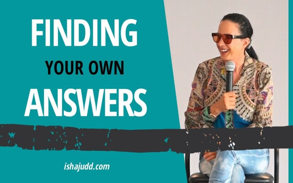 ISHA JUDD TALKS ABOUT FINDING YOUR OWN ANSWERS. DARSHAN OCTOBER 14TH 2020