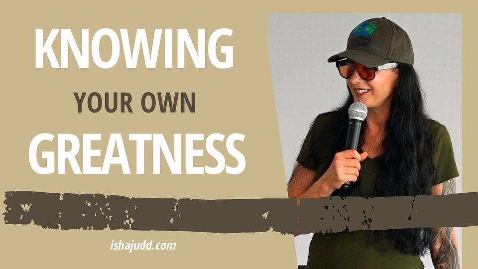 ISHA JUDD TALKS ABOUT KNOWING YOUR OWN GREATNESS. DARSHAN OCTOBER 1ST 2020.