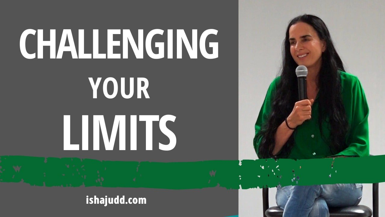 ISHA JUDD TALKS ABOUT CHALLENGING YOUR LIMITS. DARSHAN DEC 1ST 2020.