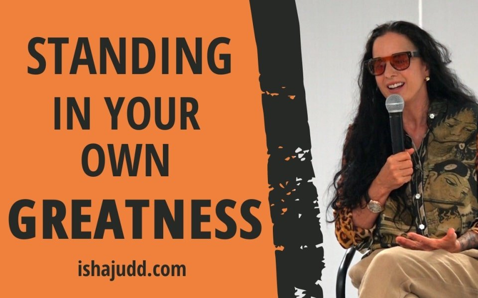 ISHA JUDD TALKS ABOUT STANDING IN YOUR OWN GREATNESS. DARSHAN NOV 29TH 2020.