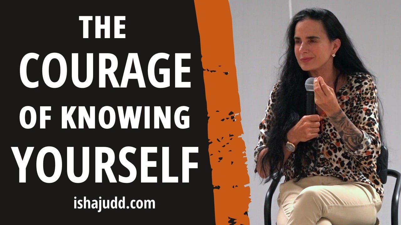 ISHA JUDD TALKS ABOUT THE COURAGE OF KNOWING SELF. DARSHAN DEC 4TH 2020.