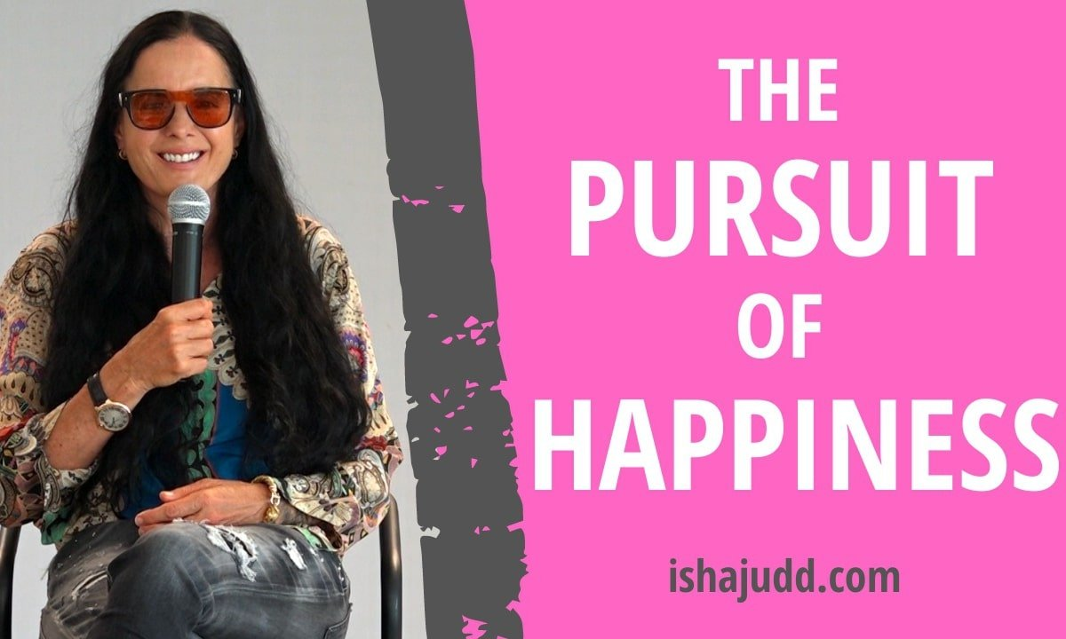 ISHA JUDD TALKS ABOUT THE PURSUIT OF HAPPINESS. DARSHAN NOV 27TH 2020.