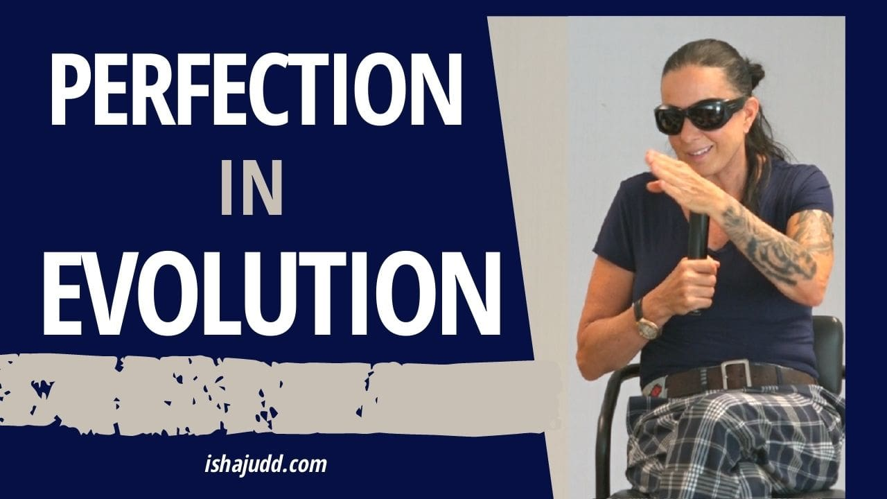 ISHA JUDD TALKS ABOUT THE PERFECTION IN EVOLUTION. DARSHAN APRIL 20 2021.