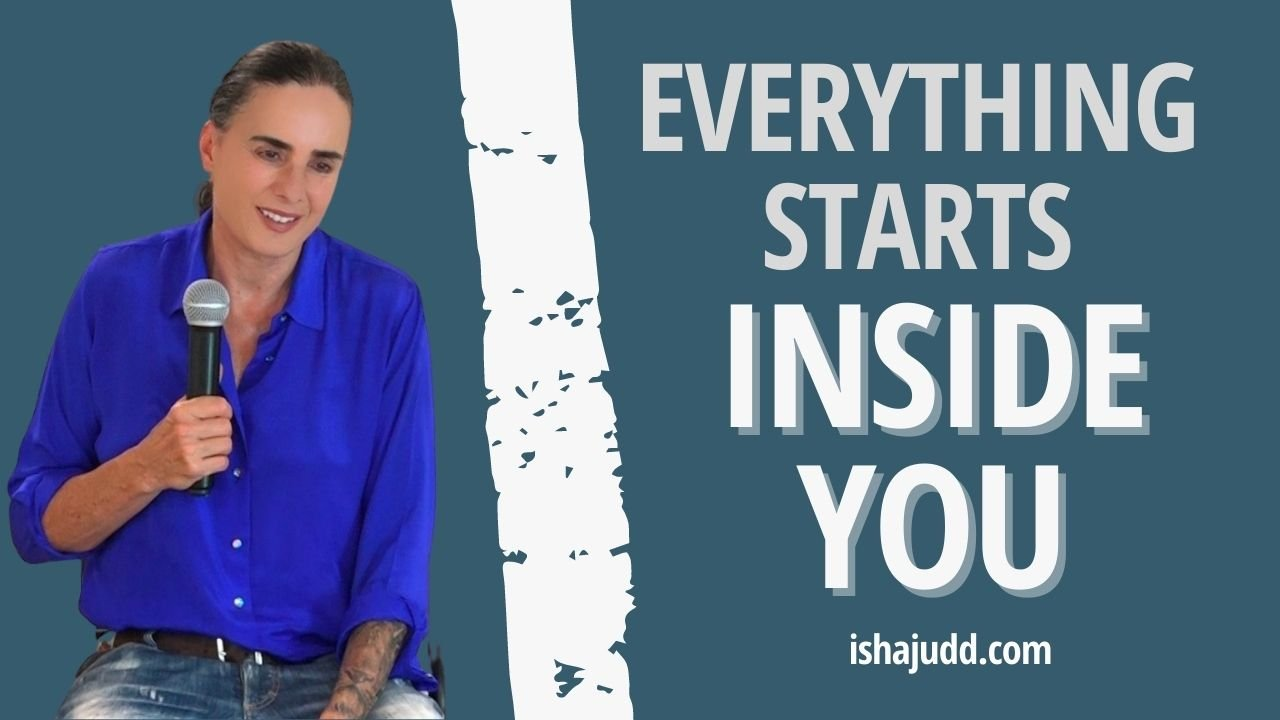 ISHA JUDD TALKS ABOUT HOW EVERYTHING STARTS INSIDE YOU. DARSHAN AUGUST 14 2021.