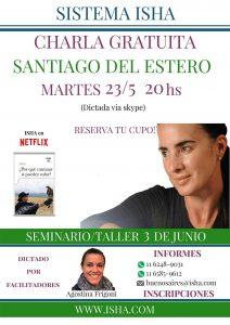 Por primera vez CHARLA GRATUITA en Santiago del Estero Martes 23 de mayo