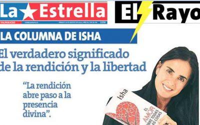 """""""El verdadero significado de la rendición y la libertad"""" por Isha Judd en la revista El Rayo de la Estrella de Valparaíso."""
