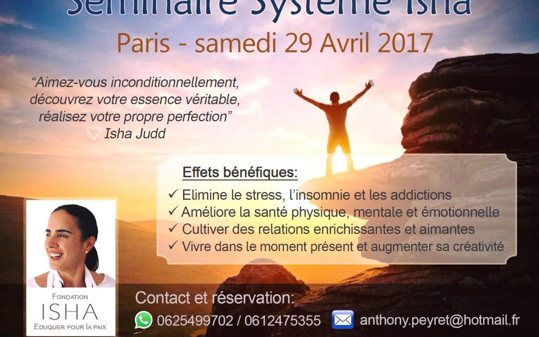 Séminaire Système Isha Paris 29 Avril 2017