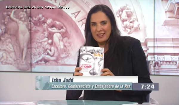 Isha en entrevistada en Canal Once México