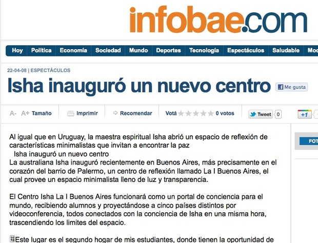 Infobae, Argentina