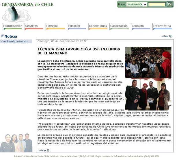 Noticias Gendarmería de Chile