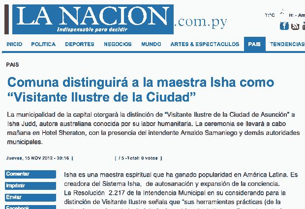 Periódico La Nación, Paraguay