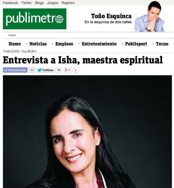 Publimetro México. Toño Esquinca entrevista a Isha