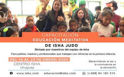 Capacitación Educación Meditativa 14 al 23 de Enero 2020