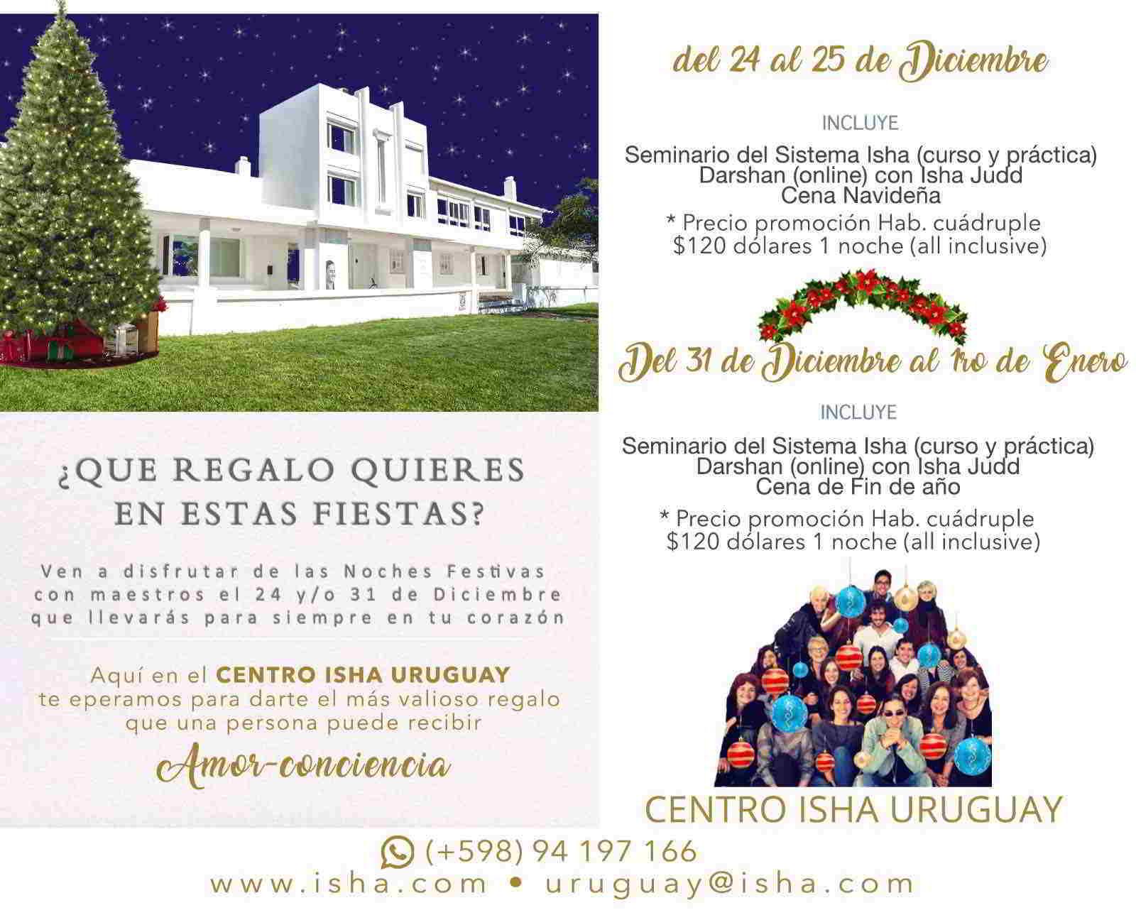 Navidad y Año Nuevo en Centro Isha Uruguay