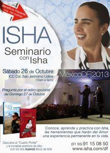 Isha – seminario con isha en mexico df