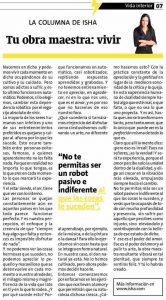 Isha – Tu obra maestra: vivir – Entrevista