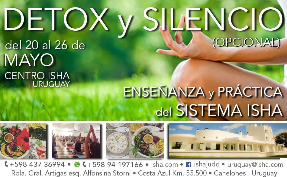 Detox y Silencio con maestros del Sistema Isha en Uruguay