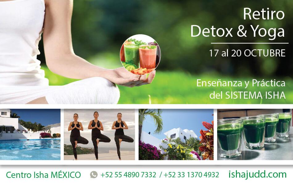 Retiro de Detox en el Centro Isha México del 17 al 20 de Octubre