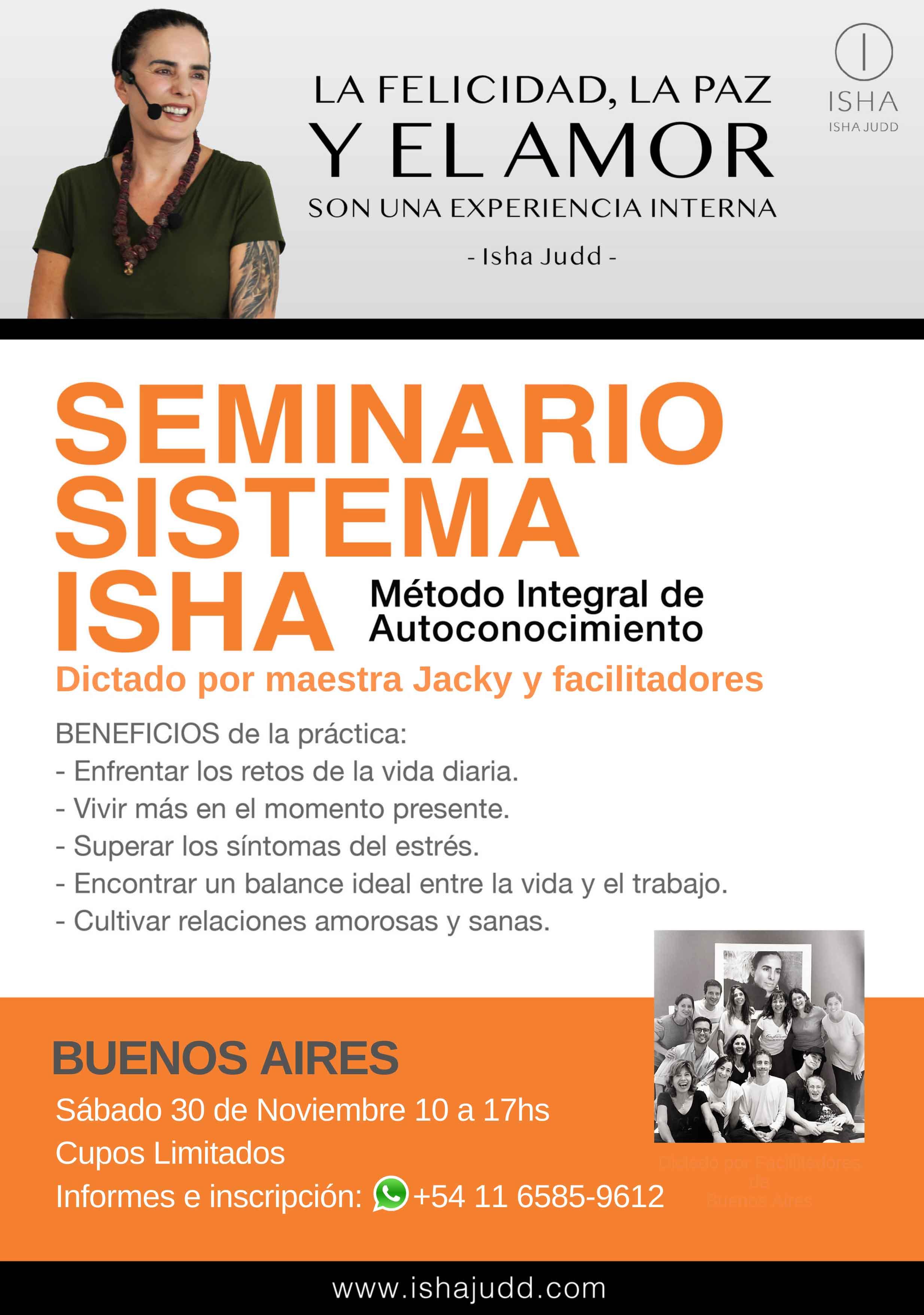 Ultimo seminario del año - Sistema Isha