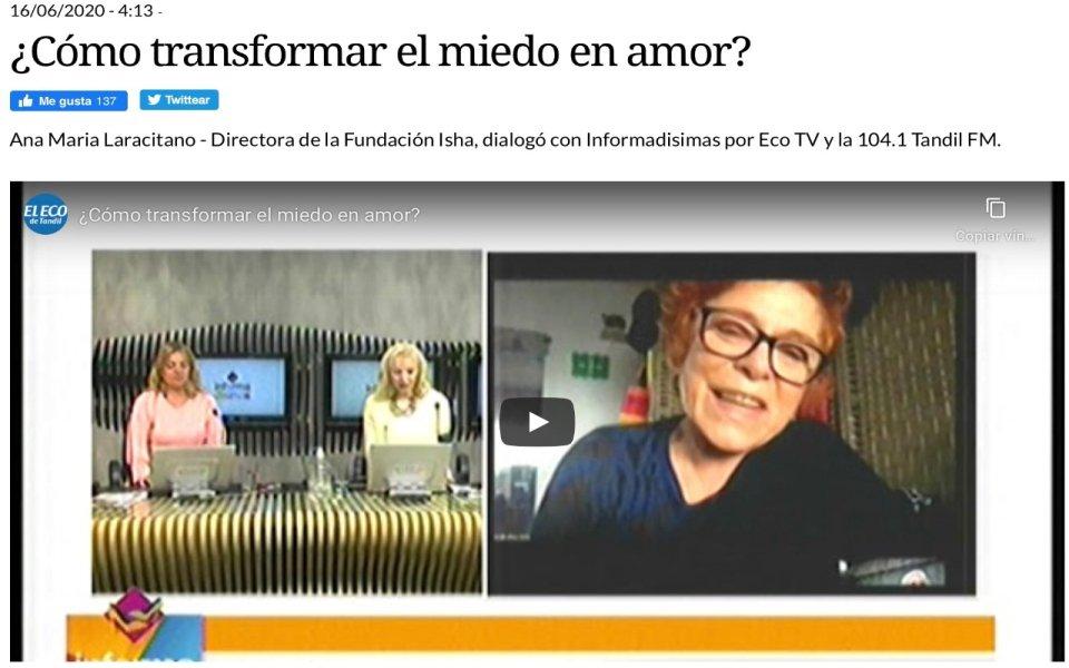 Entrevista a Annie Iaracitano – Directora de la Fundación Isha