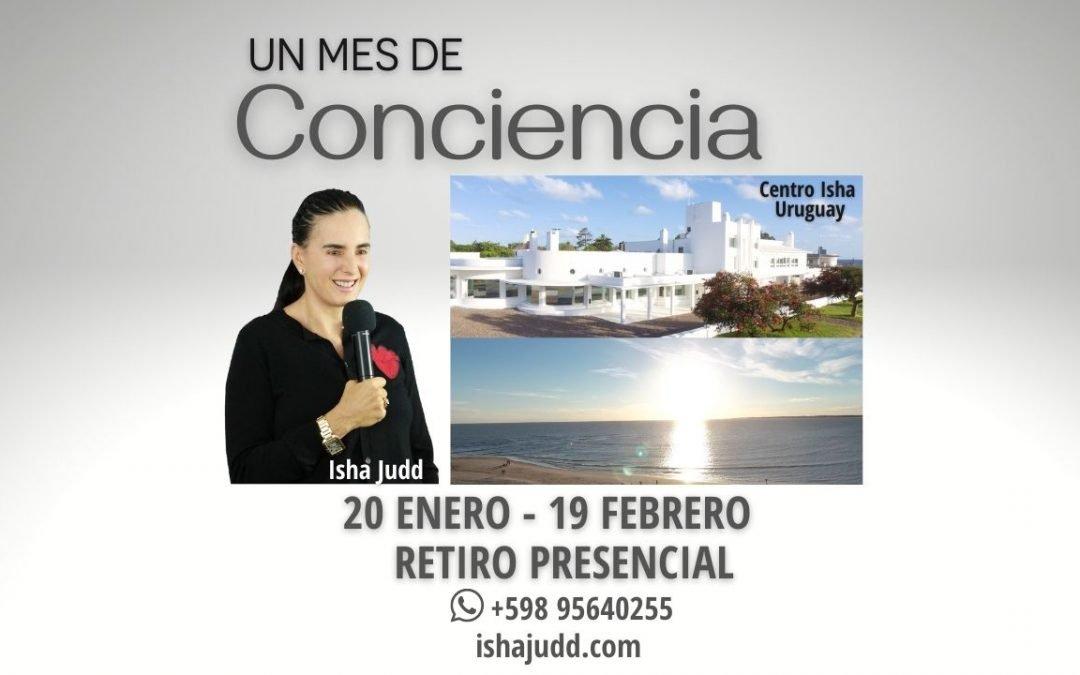 Retiro Un Mes de Conciencia Presencial – Centro Isha Uruguay Enero – Febrero 2022