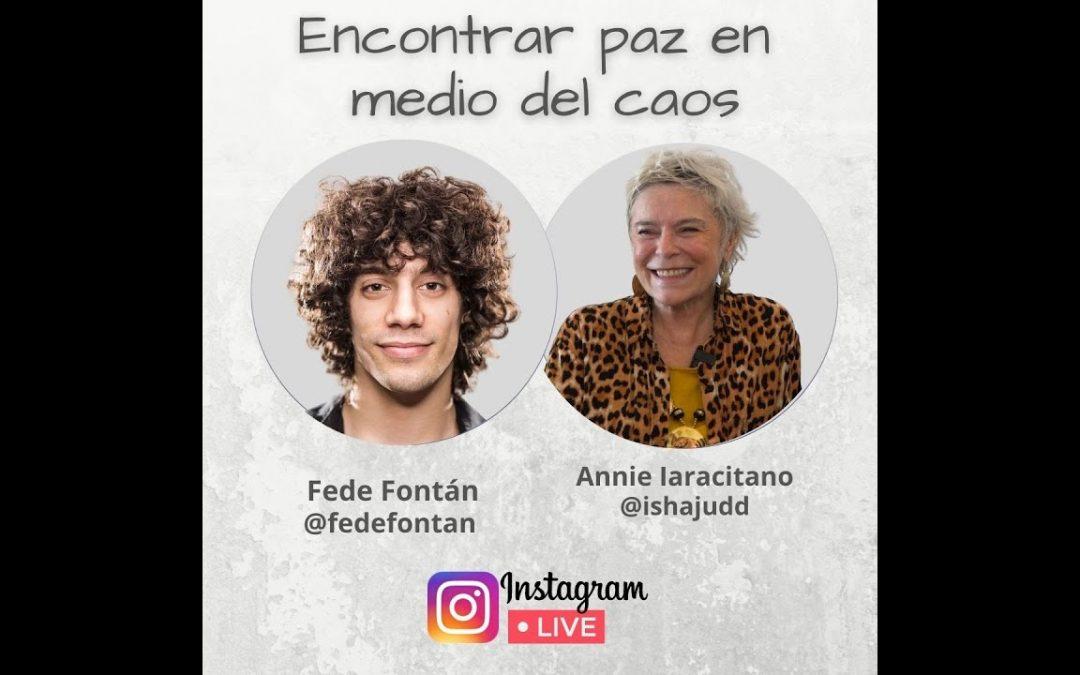 Encuentra paz en medio del caos. Annie nos comparte en Instagram con Fede Fontán.